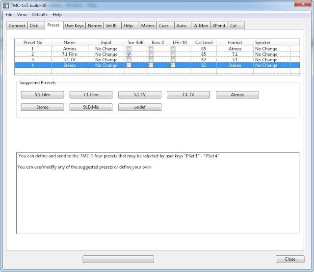 TMC-1v5 Monitor Controller Software