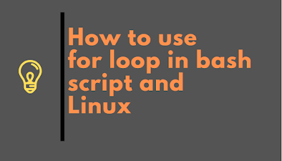 How to use for loop in Linux