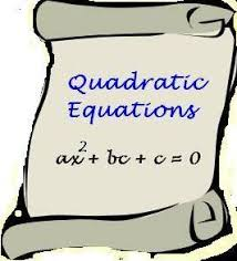 QUADRATIC EQUATION MATERIAL FOR IIT JAM EXAMINATION