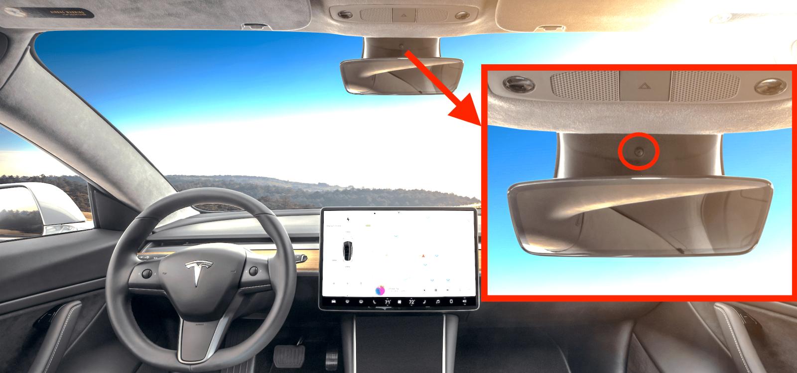 Tesla camara interior