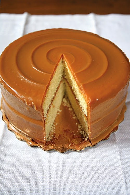 Chocolate Pound Cake With Caramel Frosting