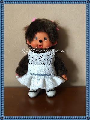 kiki monchhichi doll poupée couture sewing jupe top fait main handmade skirt vêtement clothes