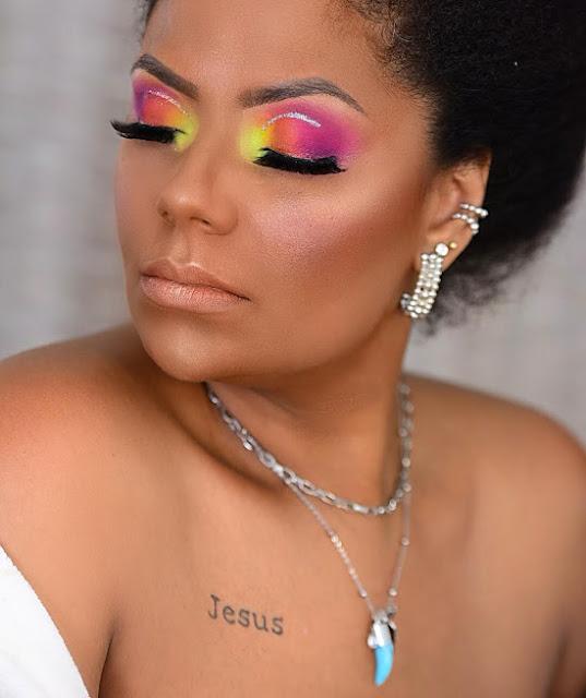 Maquiagem Neon Colorida Carnaval
