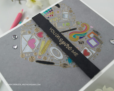 Trinity Stamps, A Crafter's Heart, heat embossing, Prismacolor Pencils, colored pencil coloring, diy card, easy card, handmade card