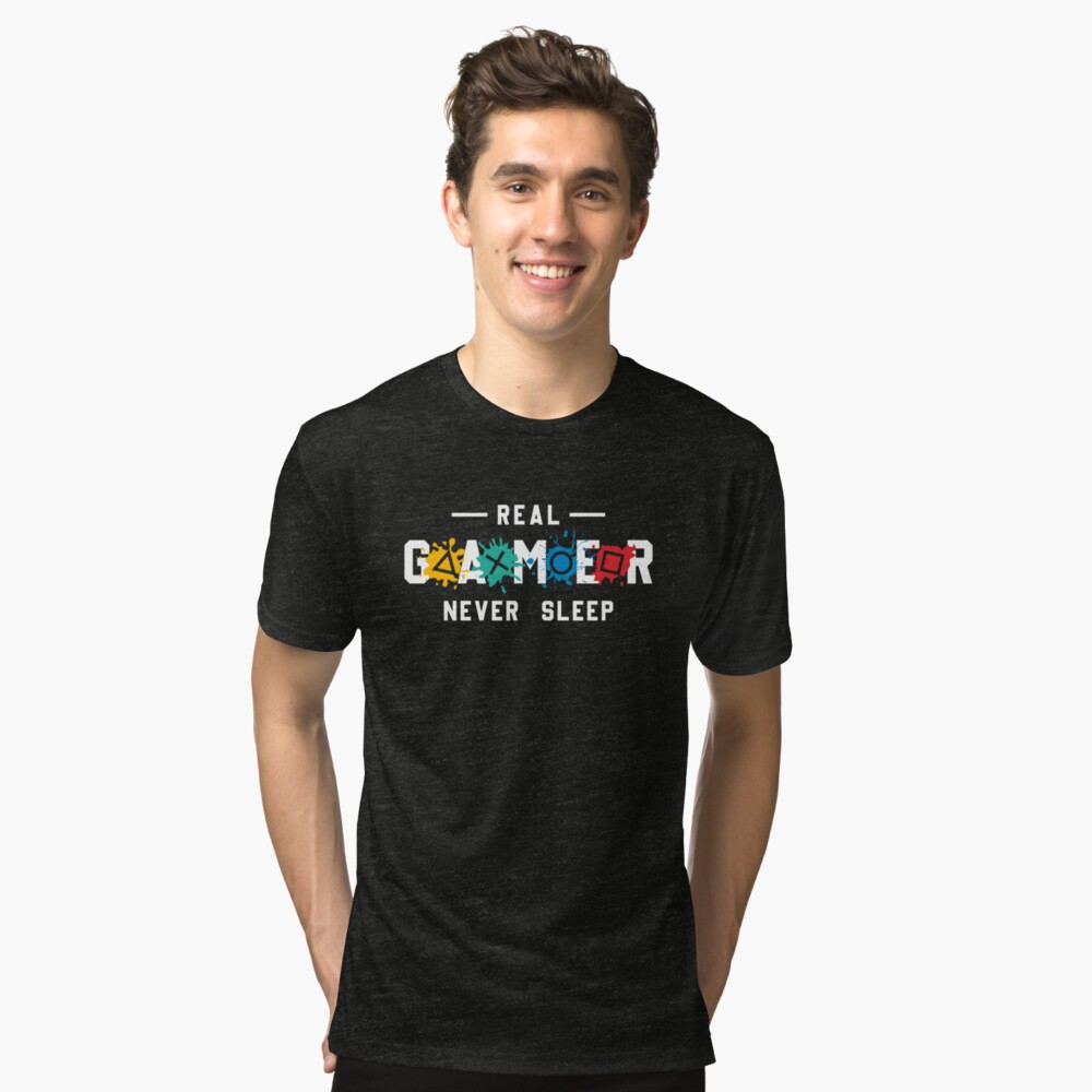 Real Gamer Never Sleep; Funny Gaming Gift