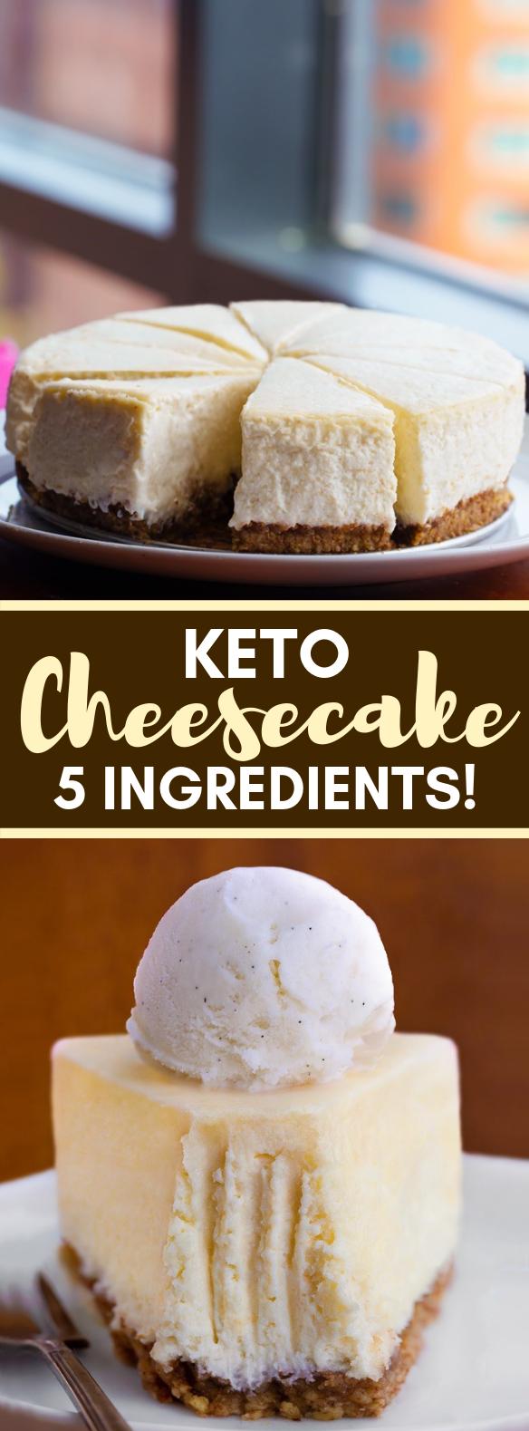 Keto Cheesecake – Just 5 Ingredients! #healthydiet #ketogenic