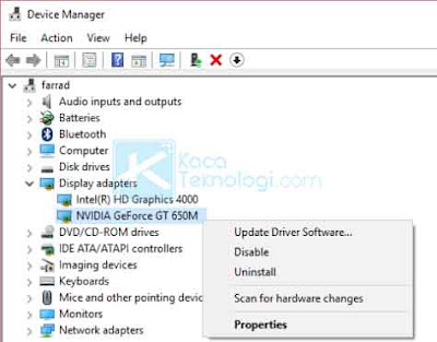 "Bagaimana cara mengatasi error ""NVIDA display settings are not available - you are not currently using a display attached to an NVIDIA GPU."" di laptop/komputer pada Windows 7/8/10?"