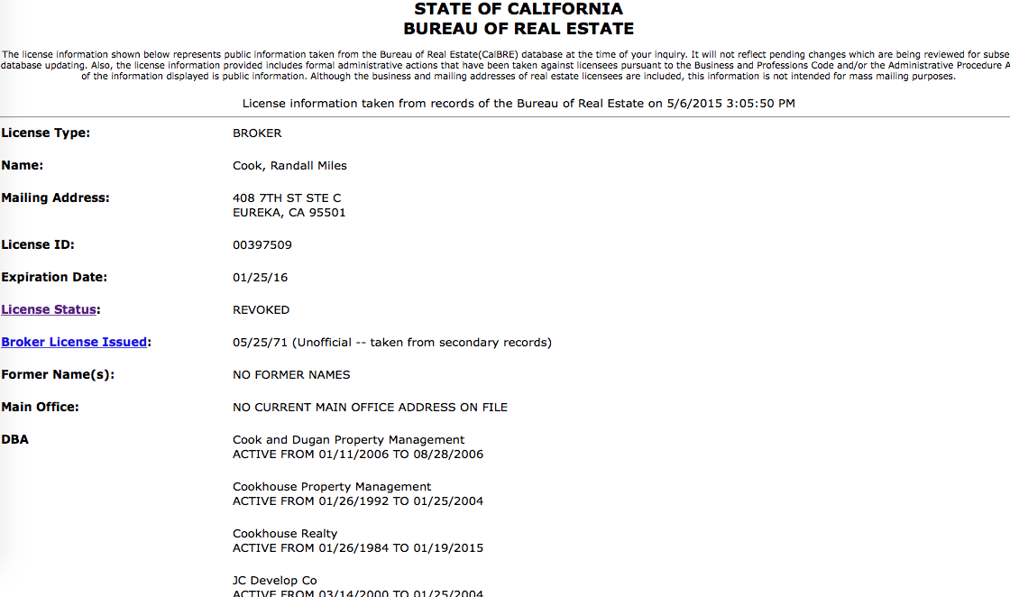 Words Worth: Even after having his real estate license revoked