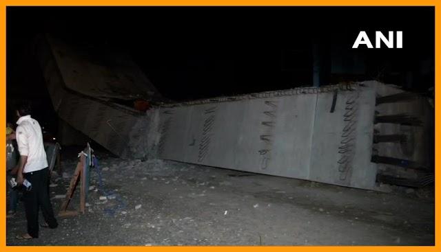 गुरुग्राम:  सोहन रोड पर गिरा निर्माणाधीन फ्लाईओवर