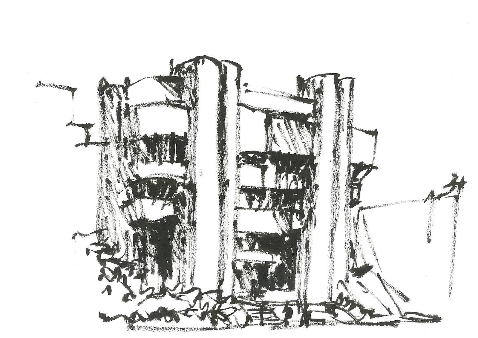 satu mare city hall brutalism