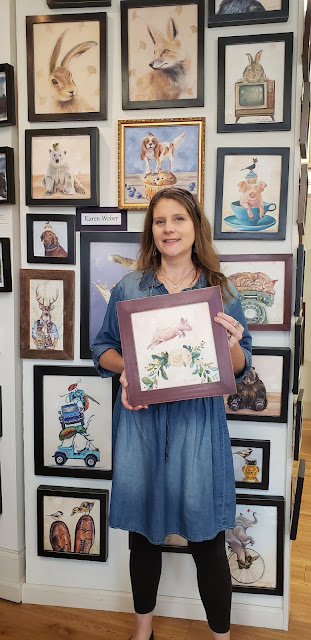 Karen Weber and animal paintings at Visual Expansion Gallery