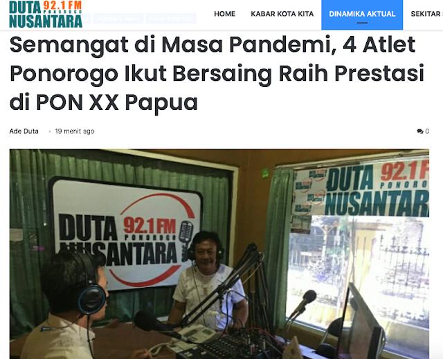 Semangat di masa pandemi, 4 atlit Ponorogo ikut bersaing di PON XX Papua