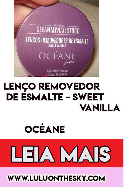 Lenços Removedores de Esmalte Océane Sweet Vanilla