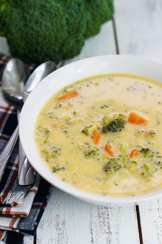 Receta de Sopa de Brócoli y Pollo