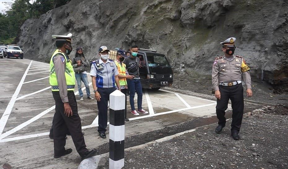 Satlantas Polres Purbalingga Bersama Dinas Terkait Cek Jalur Penyelamat