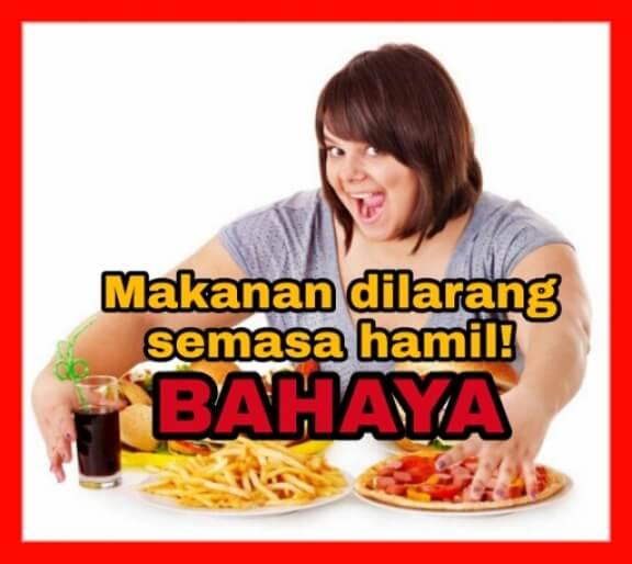 makanan dilarang ibu hamil