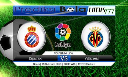 PREDIKSI  SKOR Espanyol vs Villarreal 19 Februari 2018