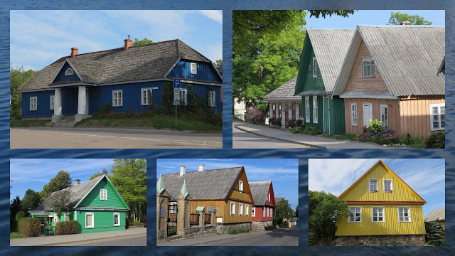 Colorful Houses Near Trakai in Lithuania