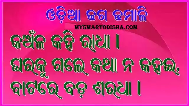 Odia Dhaga Dhamali Question Answe