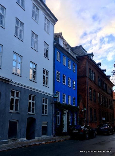 fachada azul copenhague