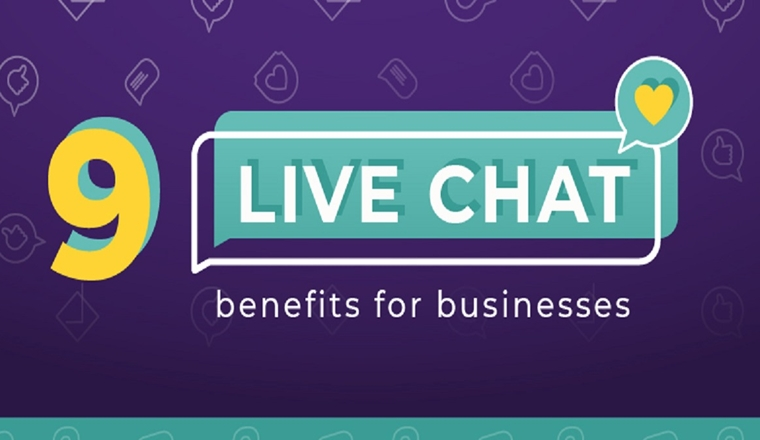 9 Live Chat Benefits for Businesses #infographic
