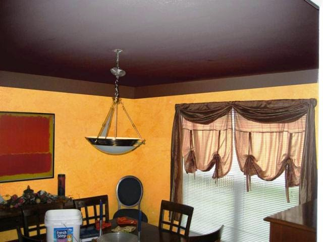 painting wall different color than ceiling
