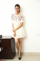 Lavanya Tripathi in Summer Style Spicy Short White Dress at her Interview  Exclusive 136.JPG