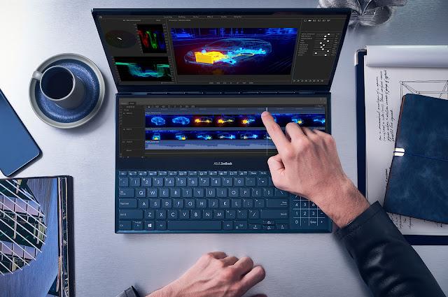 ASUS anuncia o ZenBook Pro Duo com um revolucionário ScreenPad Plus
