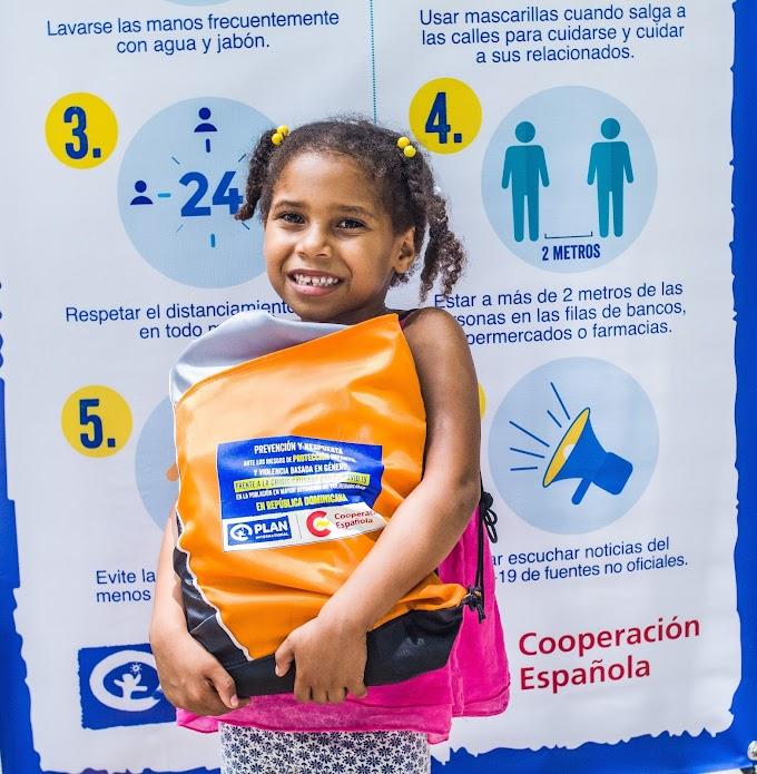 Plan International República Dominicana hace entrega de donaciones financiadas por España para paliar los efectos del coronavirus