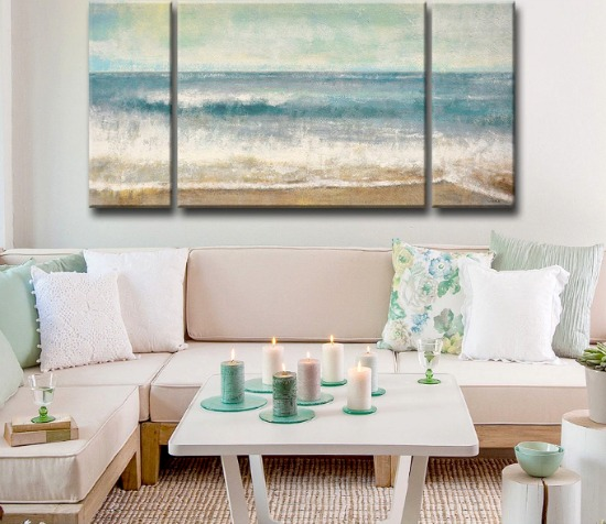 3 Piece Beach Art Canvas