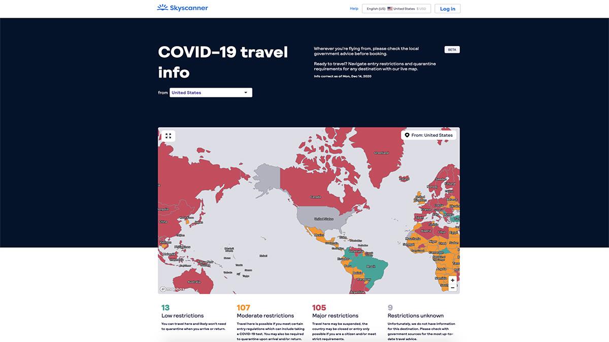 SKYSCANNER MAPA GLOBAL INTERACTIVO REQUISITOS VIAJE 01