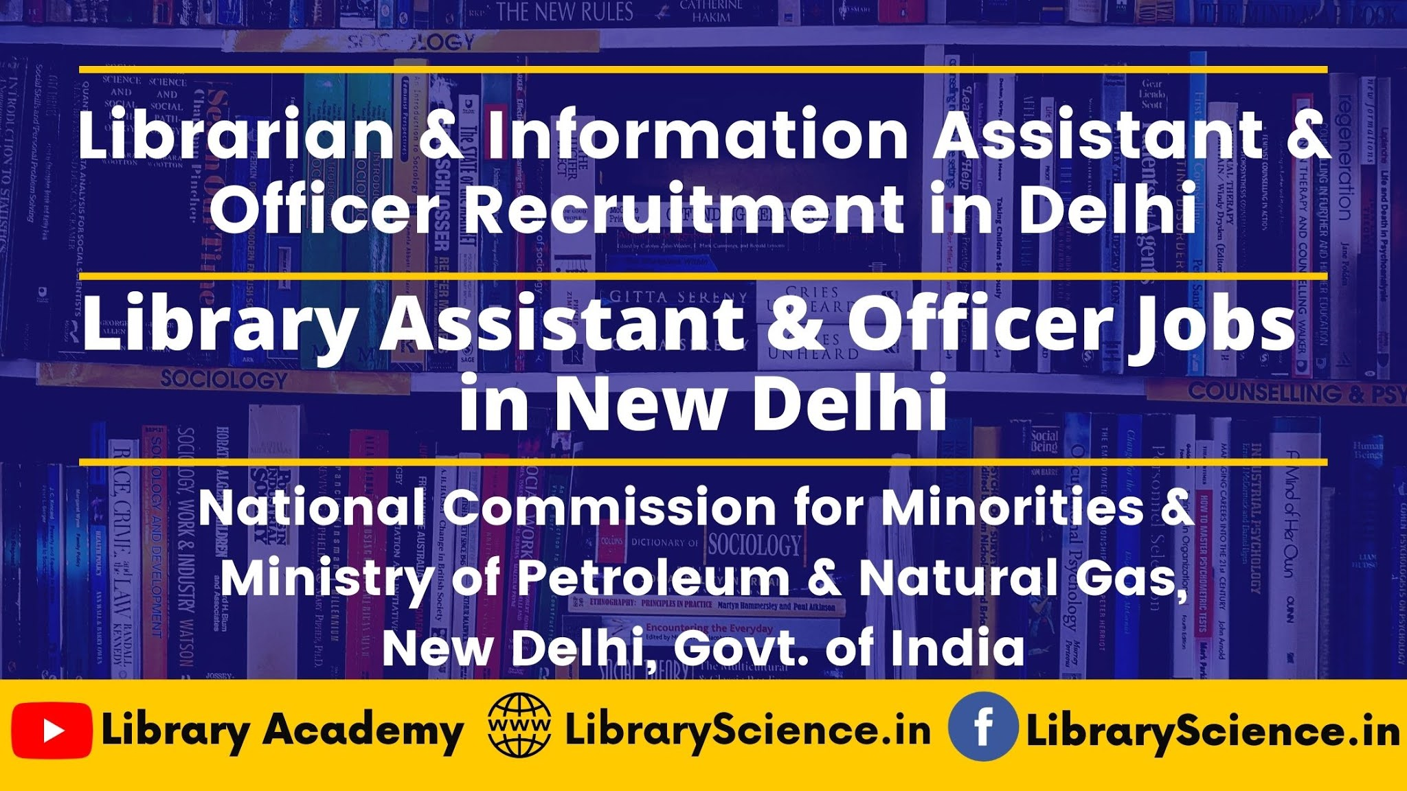 Library Jobs in Delhi