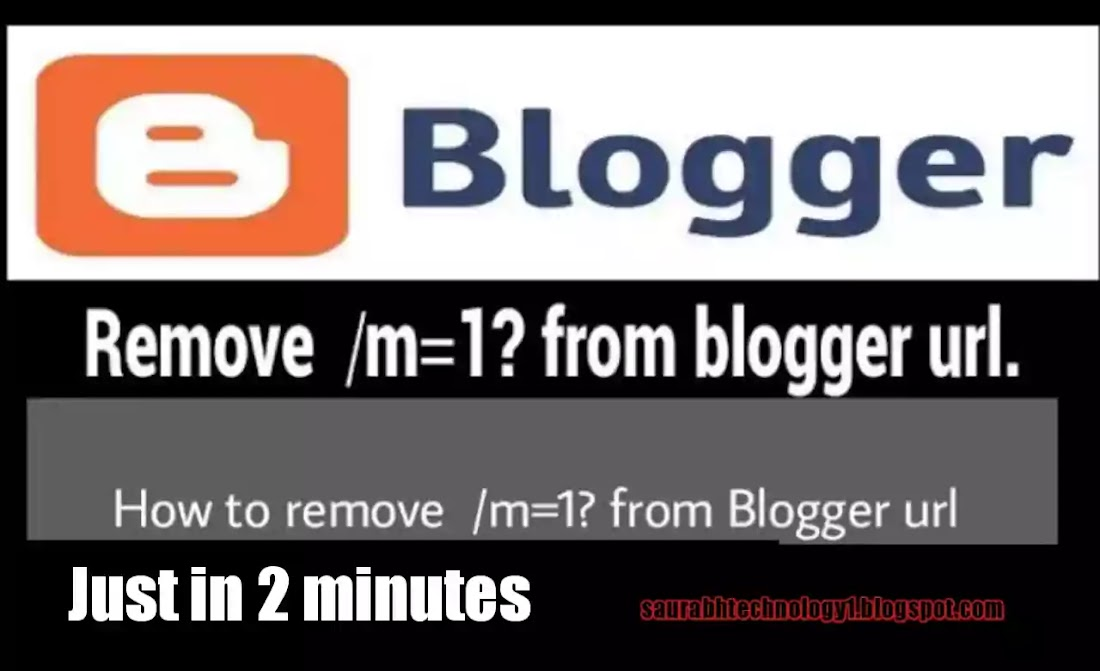 How To Disable/Remove M=1 suffix In Blogger.