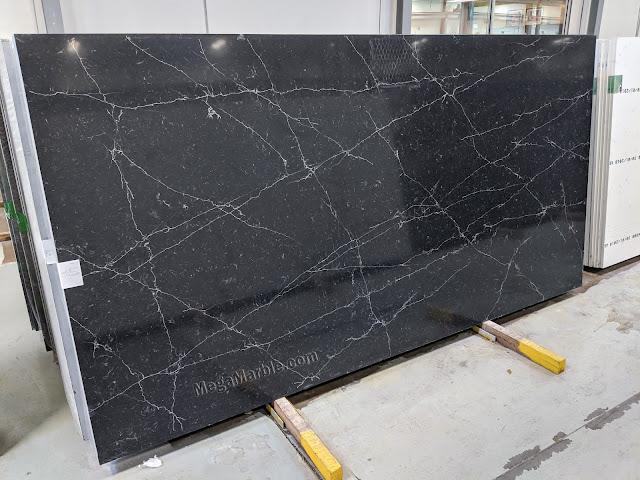 Black Quartz Countertops Slabs Mega-QM 5