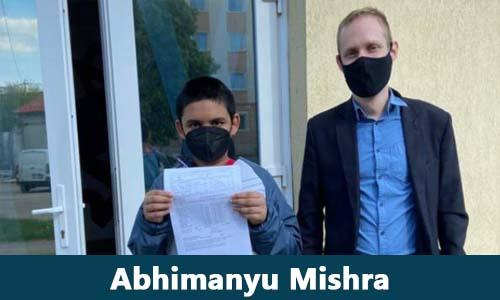 World youngest Grandmaster in chess Abhimanyu Mishra