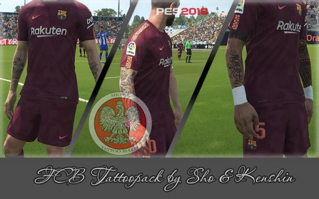 FC Barcelona Tattoopack PES 2018