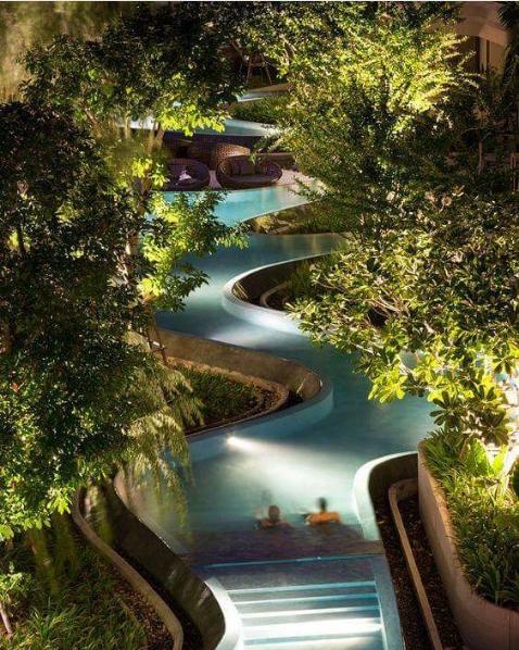 101 Planos De Casas 8 Piscinas Con Un Diseno Natural - Decoraciones-de-piscinas