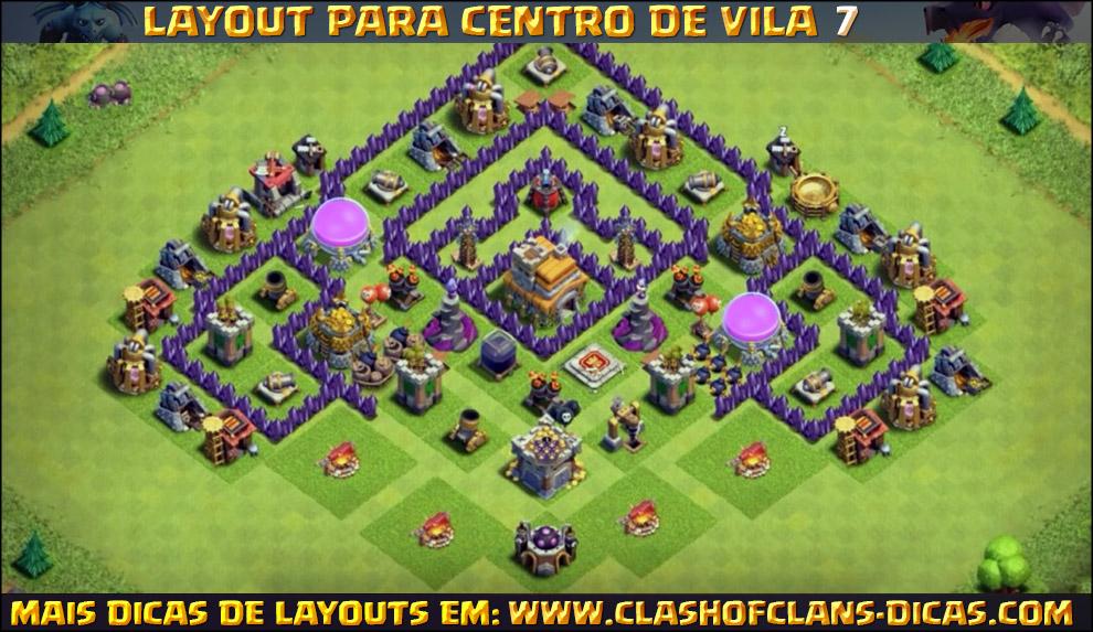 layouts de cv7 para clash of clans