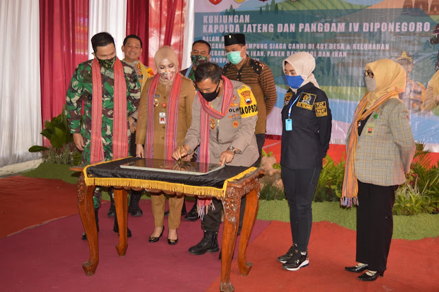 Pangdam IV/Diponegoro bersama Kapolda Jateng Canangkan Kampung Siaga Candi