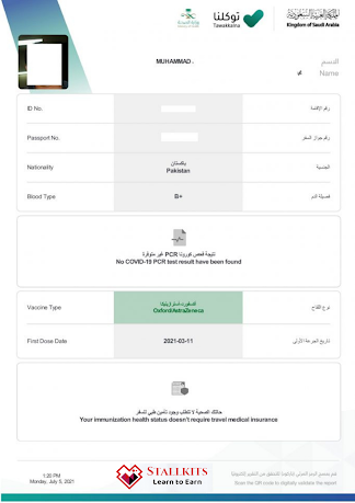 How to download a health passport from Tawakkalna