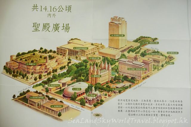 鹽湖城聖殿廣場 Temple Square, map 地圖