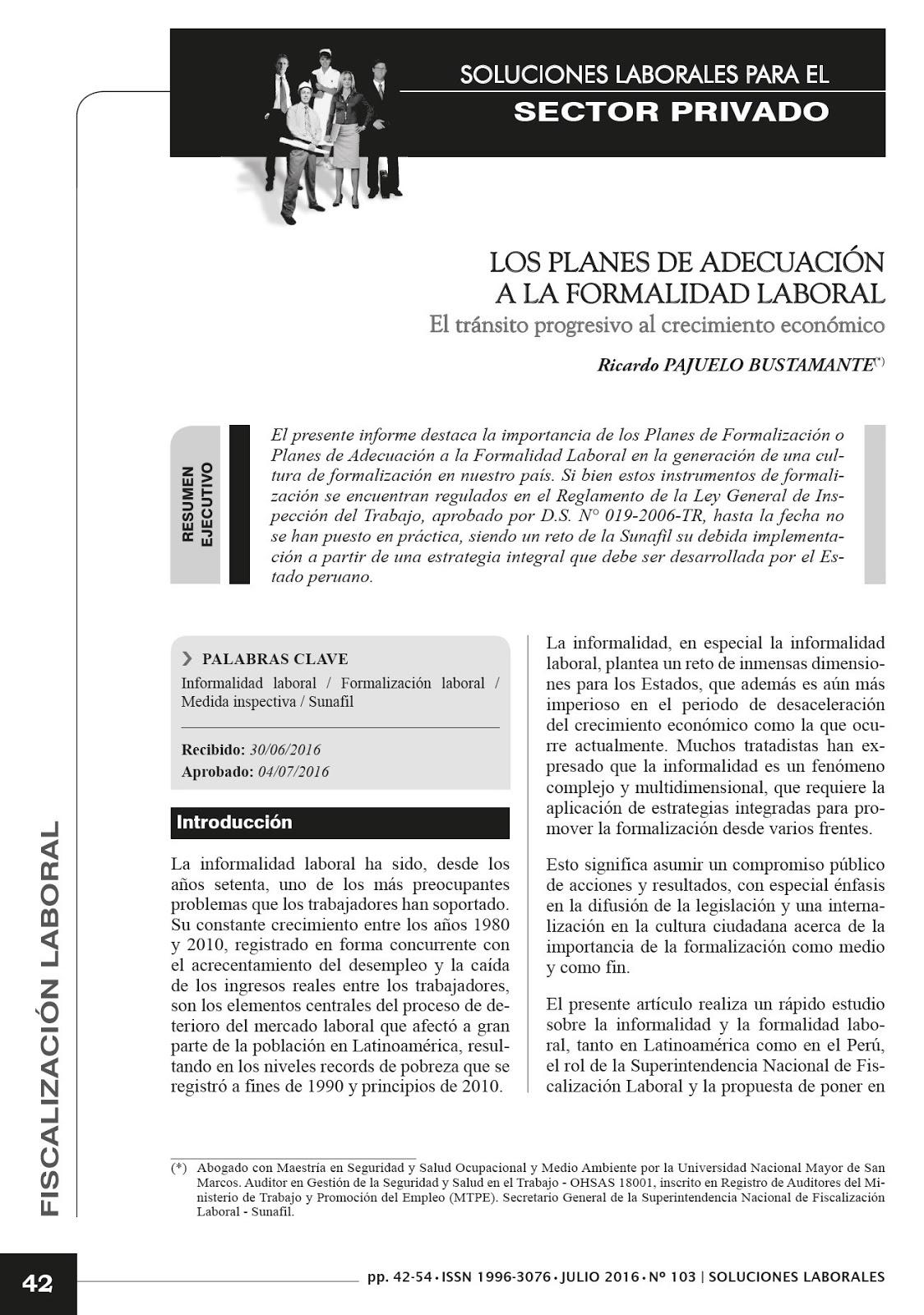 Página de Ricardo Pajuelo Bustamante: 2016