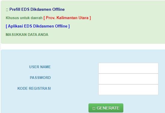 35 Link Download Prefill PMP 2019/EDS Dikdasmen Offline