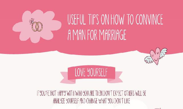 Useful Tips on How to Convince a Man for Marriage #infographic