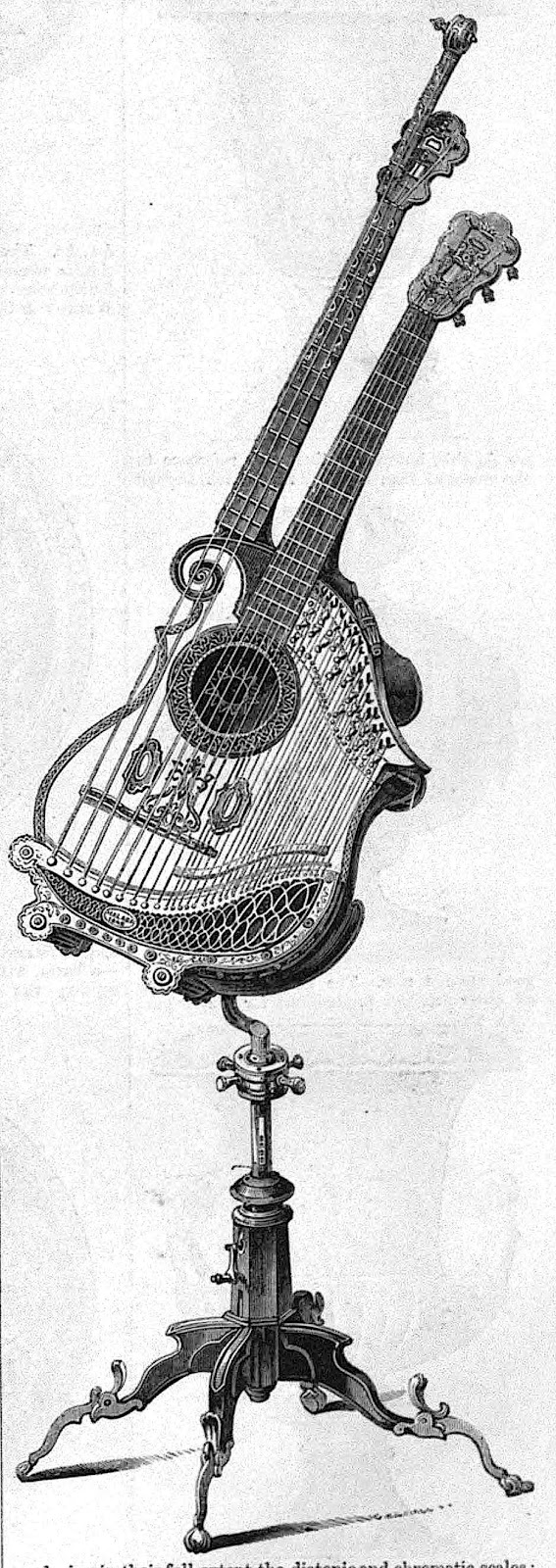 An 1851 doubleneck stringed instrument