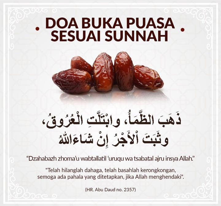 Adab dan Doa Berbuka Puasa