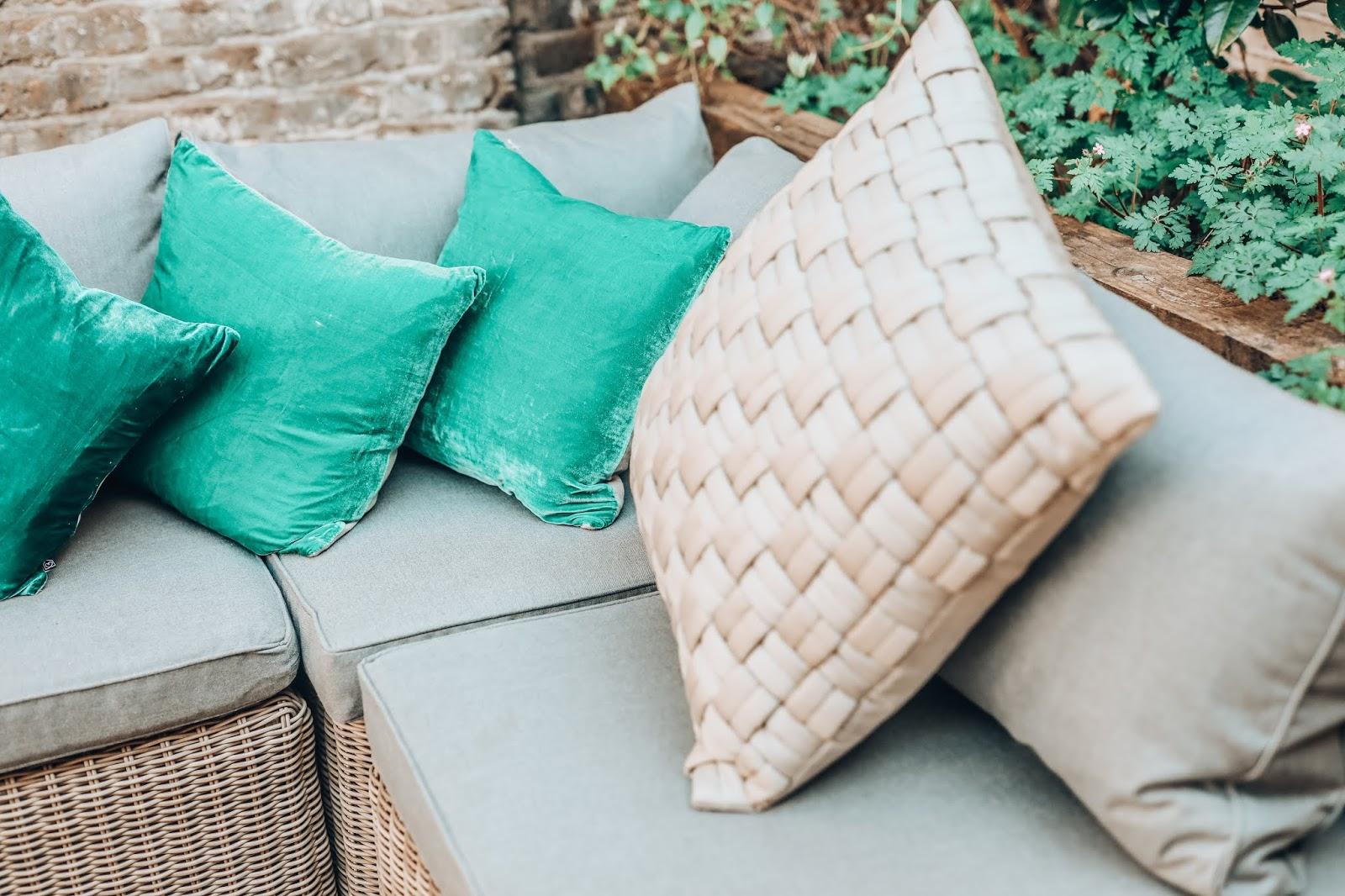 habitat velvet cushions