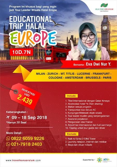 tour leader eropa baratPaket Edu Trip Wisata Halal Eropa Barat 10 Hari 2018