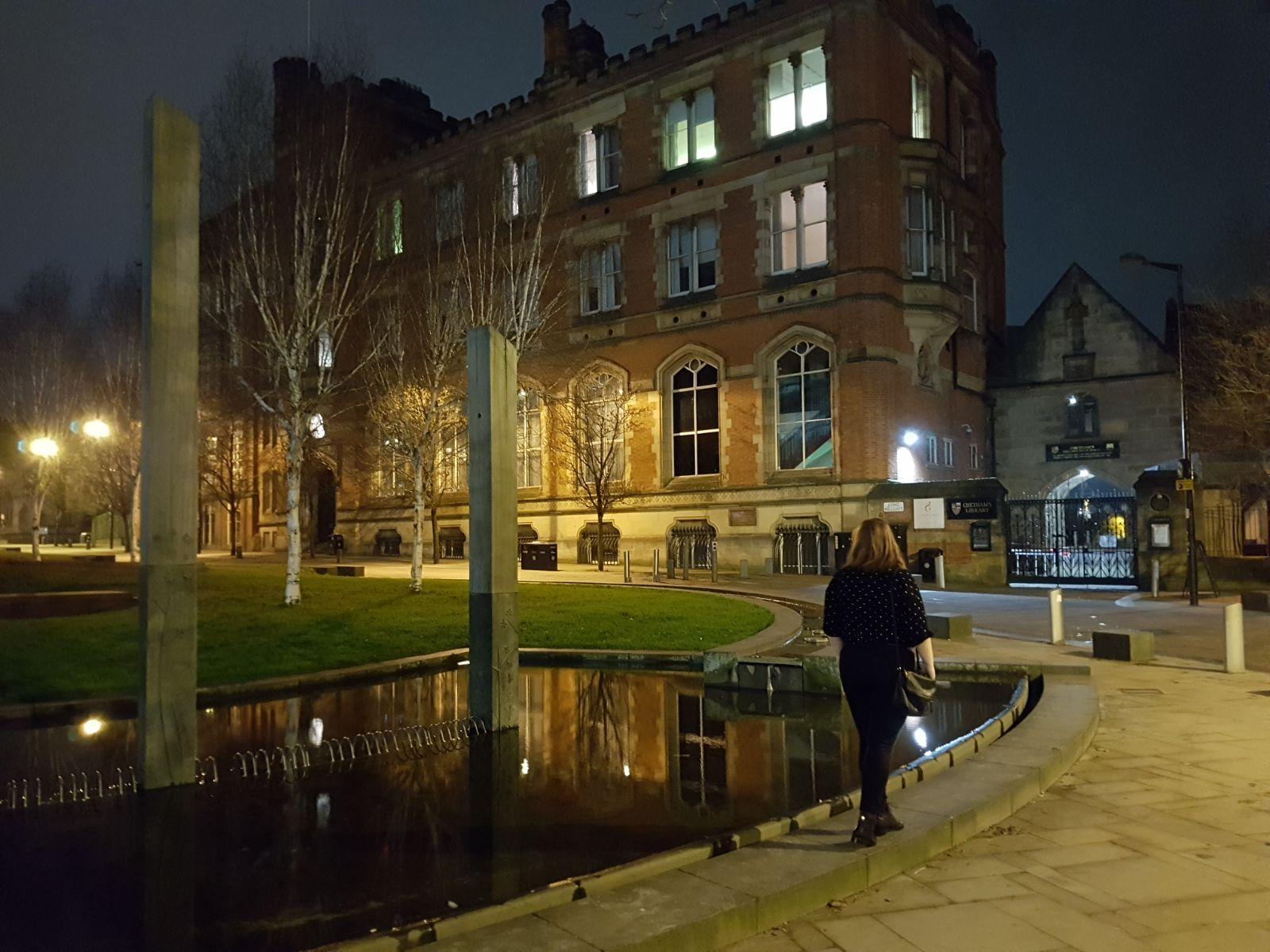 Chetham's School of Music at night