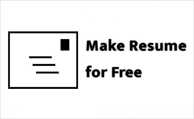 Free Resume Kaise banayen